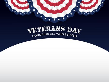 Illustration pour Veterans Day Background with Copy Text Area - image libre de droit