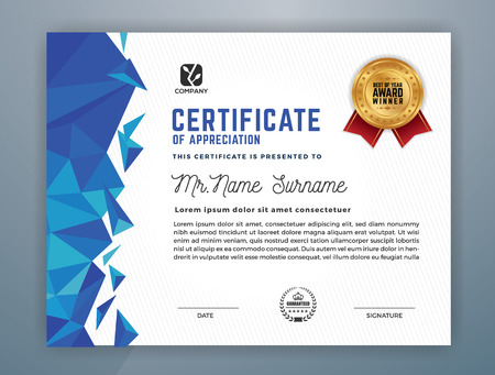 Illustration pour Multipurpose Modern Professional Certificate Template Design for Print. Vector illustration - image libre de droit