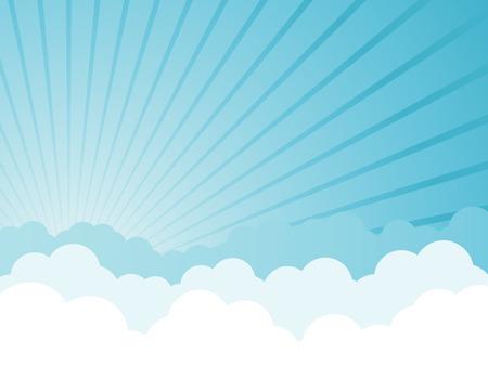Cloudy cartoon background