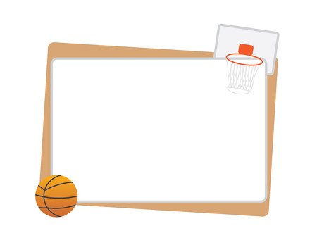 Ilustración de Basketball frame with ball and net isolated - Imagen libre de derechos