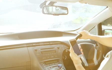 Photo pour car interior with sunlight - image libre de droit