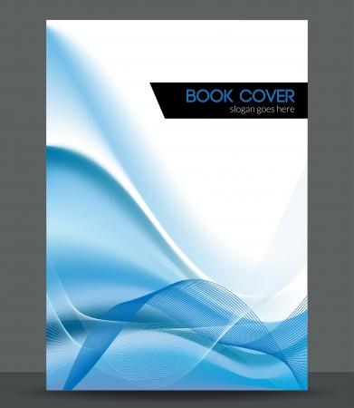 Ilustración de Blue wave brochure   booklet cover design template - Imagen libre de derechos