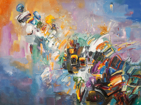 Foto de An abstract artwork of The Emotions. - Imagen libre de derechos