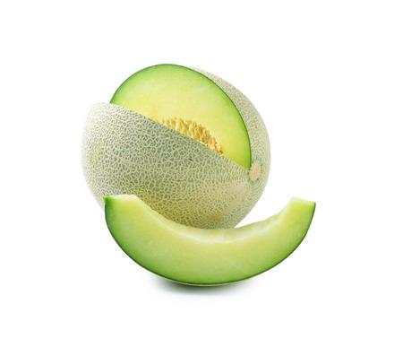 Foto de cantaloupe melon isolated on white background - Imagen libre de derechos