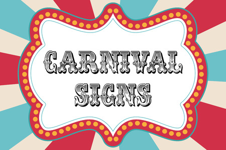 Illustration pour Carnival sign template with red and blue - image libre de droit