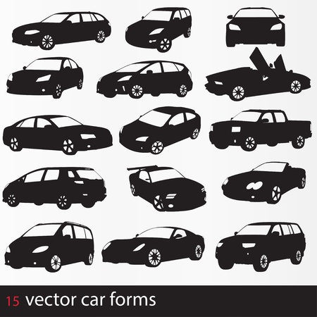 Photo for Cars silhouette - Royalty Free Image
