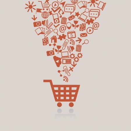 Ilustración de Shopping cart concept - Imagen libre de derechos