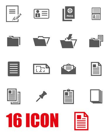 Illustration pour Vector grey document icon set on white background - image libre de droit