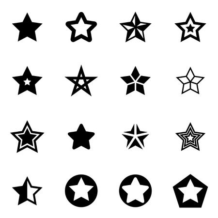 Illustration for Vector black stars icon set on white background - Royalty Free Image