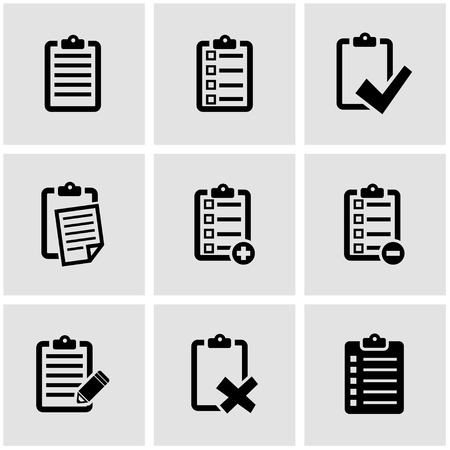 Photo pour Vector black check list icon set. Check List Icon Object, Check List Icon Picture, Check List Icon Image - stock vector - image libre de droit