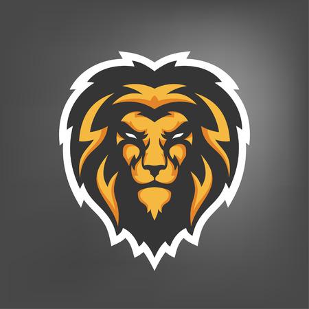 Illustration pour Vector illustration of lion head. Sport mascot. - image libre de droit