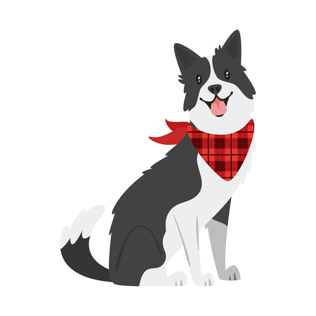 Illustration pour Vector cartoon style illustration of  farm animal - dog. Isolated on white background. - image libre de droit
