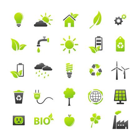 Illustration for Ecology icons set - Royalty Free Image
