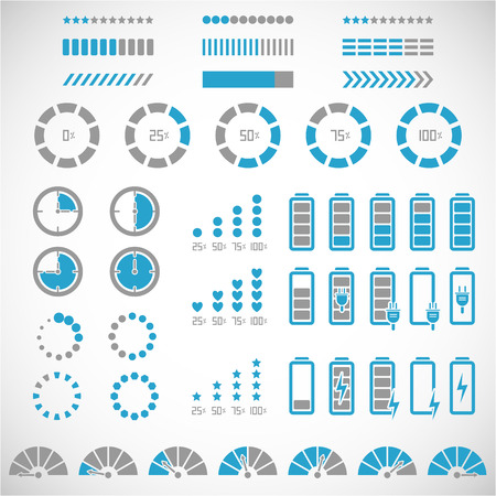 Illustration pour Indicators collection - image libre de droit