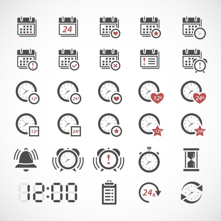 Illustration pour Time icons set - image libre de droit