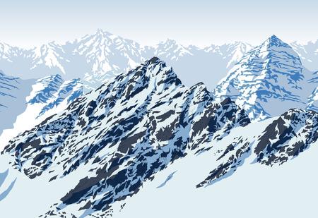 Illustration pour vector rocky mountains landscape - image libre de droit