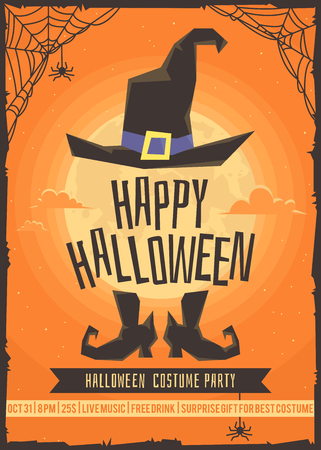 Illustrazione per Halloween costume party. Poster for the costume party. - Immagini Royalty Free