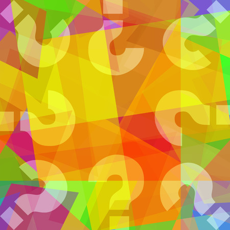 Photo for Question marks oncolorful abstract art background - Royalty Free Image