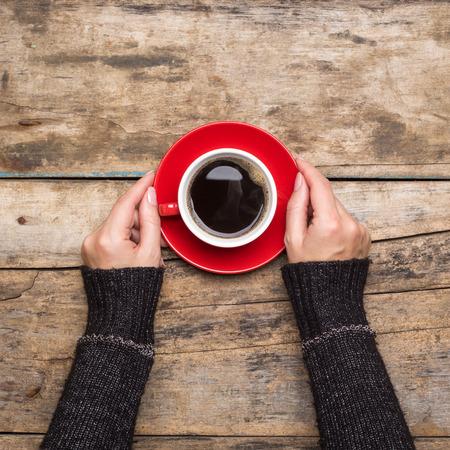 Photo pour Coffee break background. Stop working drink espresso - image libre de droit