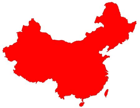 Photo pour isolated red map of China - image libre de droit