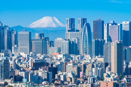 Tokyo city and Mt Fuji