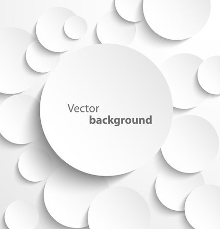 Illustration for Paper circle banner with drop shadows  Vector illustration - Royalty Free Image