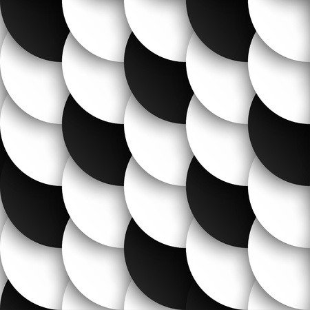 Photo pour Seamles pattern of black and white circles with drop shadows illustration - image libre de droit