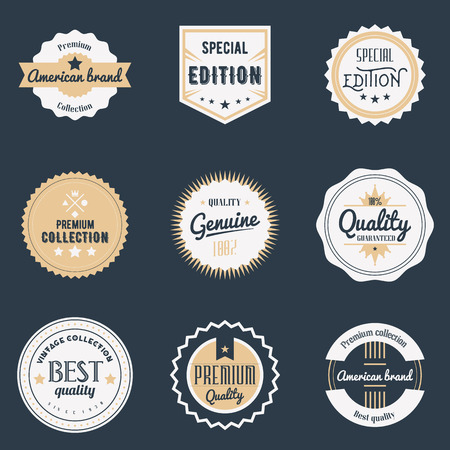 Illustration pour Premium quality labels set. - image libre de droit
