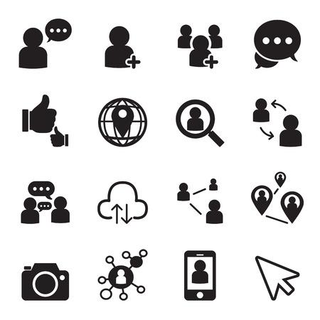 Illustration pour Social network icons - image libre de droit