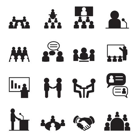 Illustration pour Conference icon set - image libre de droit