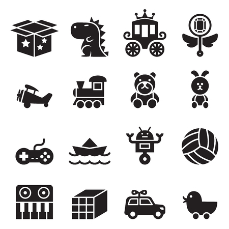 Illustration pour Toy icon set - image libre de droit
