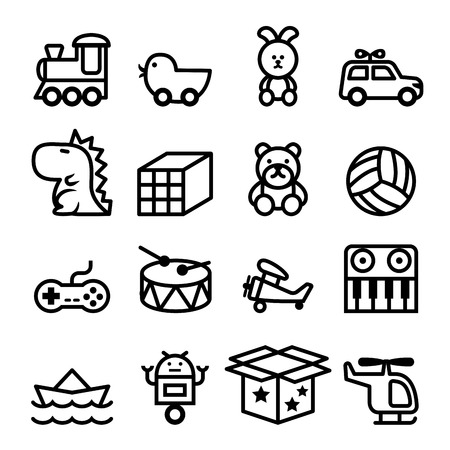 Illustration pour Outline Toy icon set - image libre de droit
