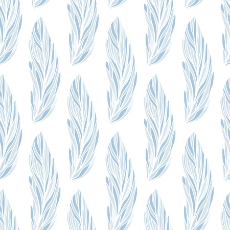 Photo pour Seamless vector pattern with hand-drawn feathers - image libre de droit