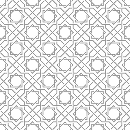 Ilustración de Traditional arabic tangled pattern. Seamless vector background. Plain colors - easy to recolor. - Imagen libre de derechos