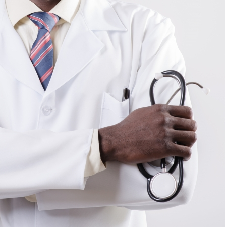 Photo pour  doctor with phonendoscope - image libre de droit