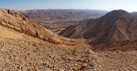 The Large Fin ridge in the Large Crater (Makhtesh Gadol) in Israel