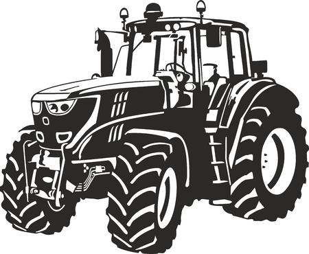 Illustration pour Vector illustration of an tractor  - image libre de droit
