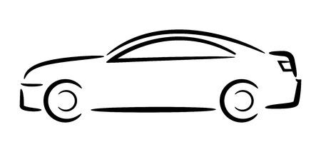 Illustration pour Car outline  Vector illustration  - image libre de droit