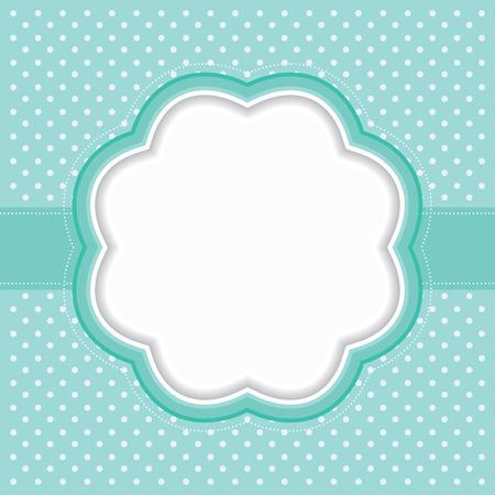 Illustration pour Polka dot frame - image libre de droit