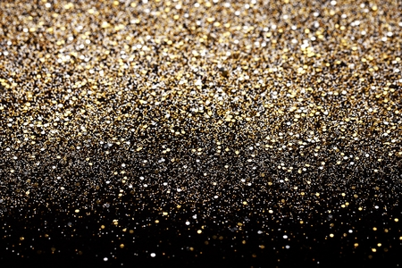 Photo for Christmas Gold and Silver Glitter background. Holiday abstract texture - Royalty Free Image