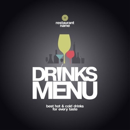 Drinks Menu Card Design template