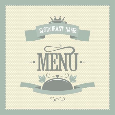 Illustration pour Retro restaurant menu card design template - image libre de droit