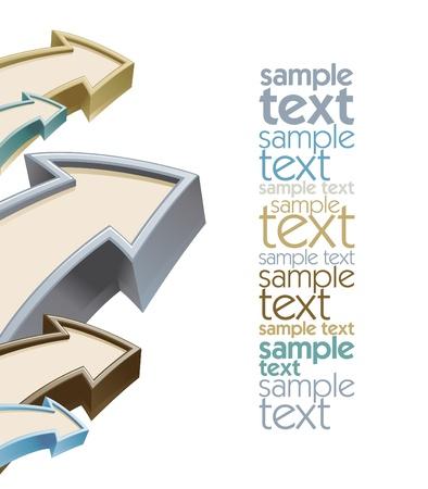 Ilustración de Arrows growth design template with place for text - Imagen libre de derechos