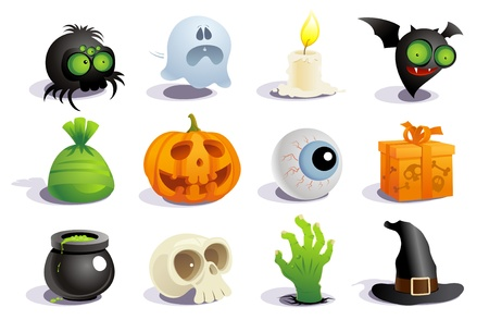 Illustration for Halloween symbols collection. - Royalty Free Image