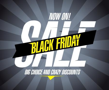 Illustration pour Black friday sale design template. - image libre de droit