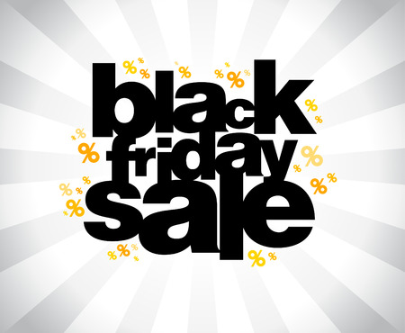 Illustration pour Black friday sale banner. - image libre de droit