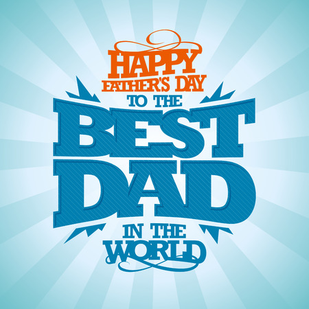 Illustration pour Vintage typographical Happy Father's day card. - image libre de droit