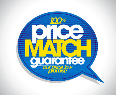 Illustration pour 100% price match guarantee speech bubble design. - image libre de droit