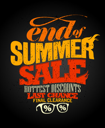 Illustration pour End of summer sale design, final clearance. - image libre de droit
