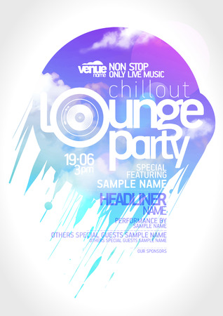 Ilustración de Art lounge party poster design. - Imagen libre de derechos